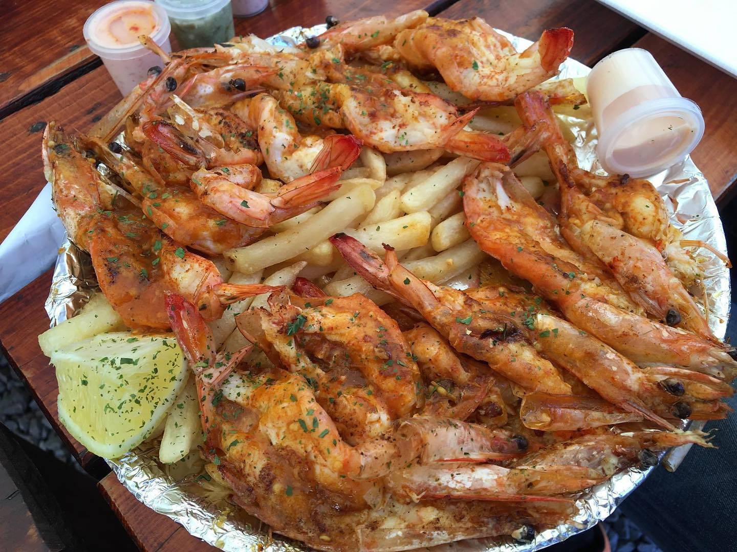 Best prawns at @thisiseat_pe . Can't wait to see you soon #prawns #periperiprawns #pe