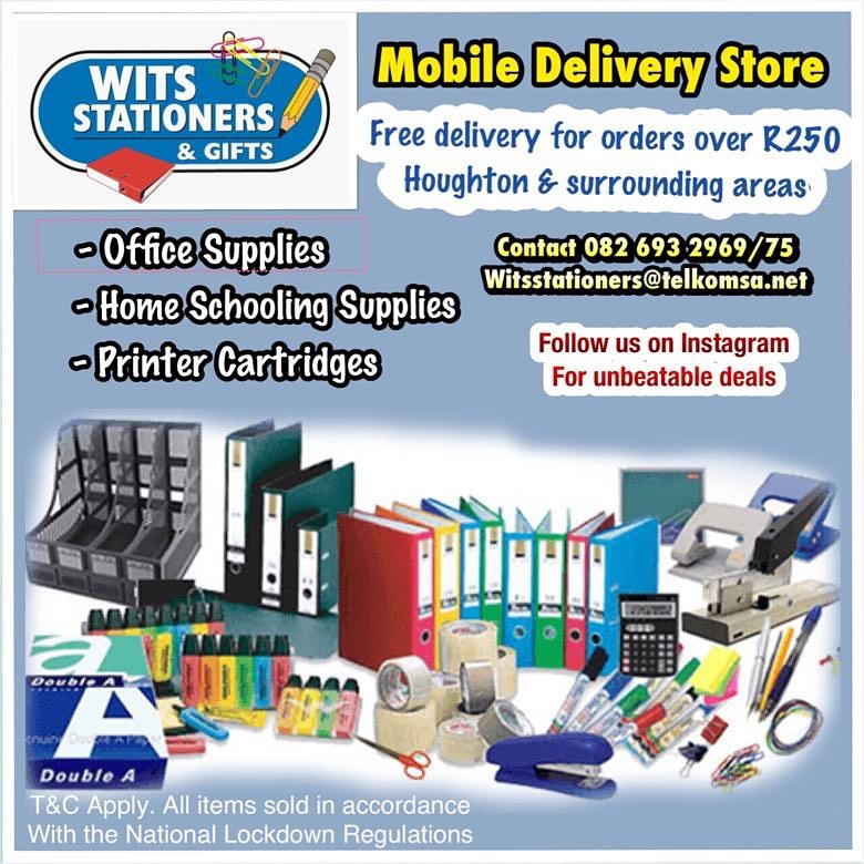 Wits Stationers & Gifts. Mobile Delivery Store. Contact us Now❣️