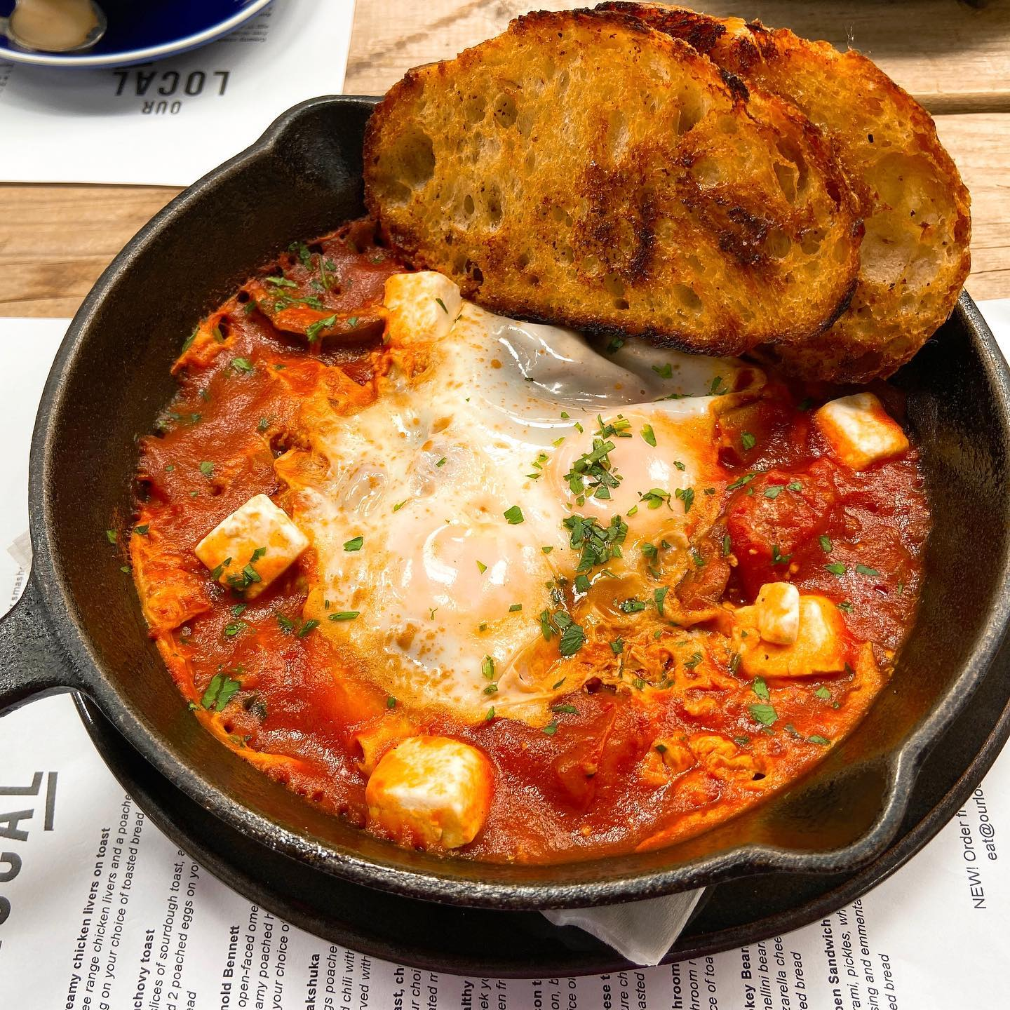 Eggs Shakshuka at @our_local in Kloof road,Cape Town ️#breakfast #earlymornings #eggs #shakshuka #breakfastideas #breakfasttime #capetown #capetownfood #mothercity #summer #breakfastdate #egg #plants #ourlocal #coffeelover #coffee #healthylifestyle #health